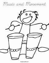 Coloring Pages Kindergarten Bongos Fun Movement Bongo Cursive Template Login Favorites Twistynoodle Noodle sketch template