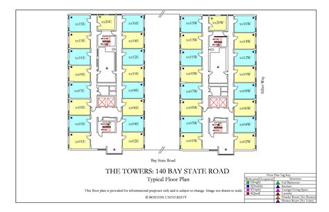 towers floor plan housing boston university