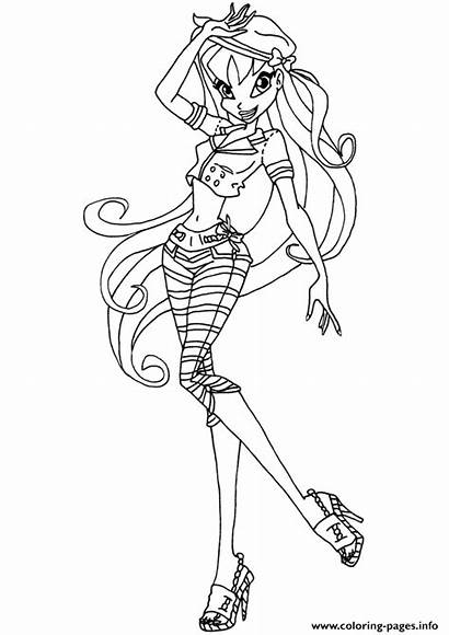 Winx Coloring Club Stella Pages Printable Drawing