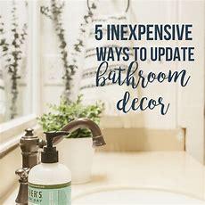 5 Inexpensive Ways To Update Any Bathroom Decor Twelve