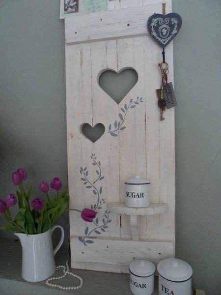 Fensterläden Holz Deko by Deko Fensterladen Shabby Mit Regal Ranke Shabby