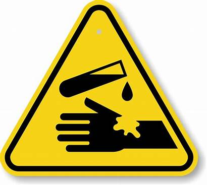 Corrosive Warning Sign Substance Iso Triangle Signs