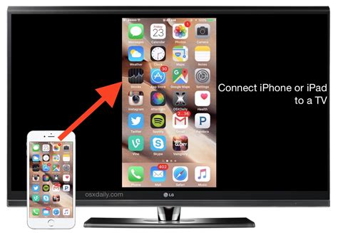 how to connect an iphone or to a tv