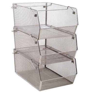vegetable storage stackable mesh bins 3 pk sam 39 s