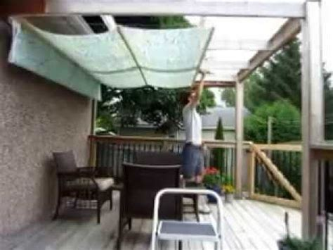 diy retractable pergola canopy awning youtube