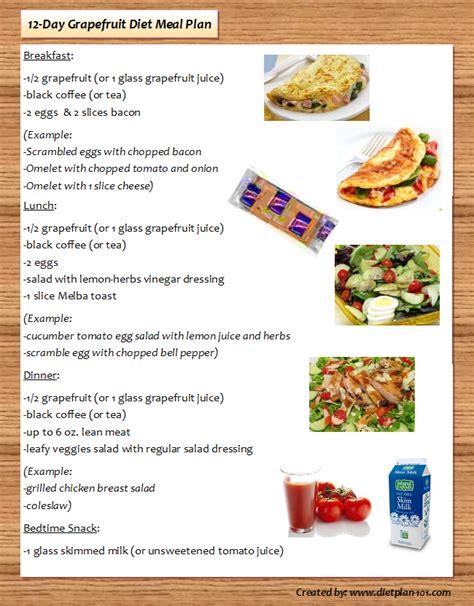 day grapefruit diet plan