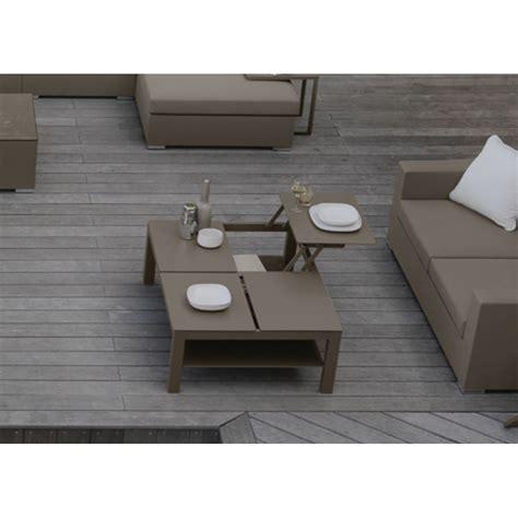 table basse originale table basse original pour jardin avec plateau coulissant talenti