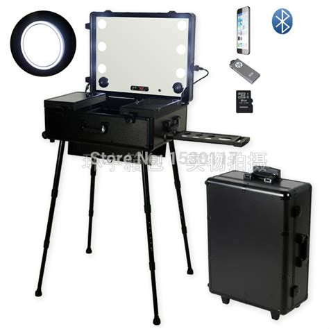 rolling makeup with lights multimedia makeup artist station rolling makeup with