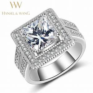 wedding engagement ring stainless steel ring big square With big square wedding rings