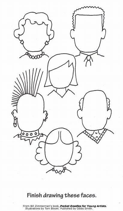 Faces Printables Drawing Complete Doodle Pages Printable