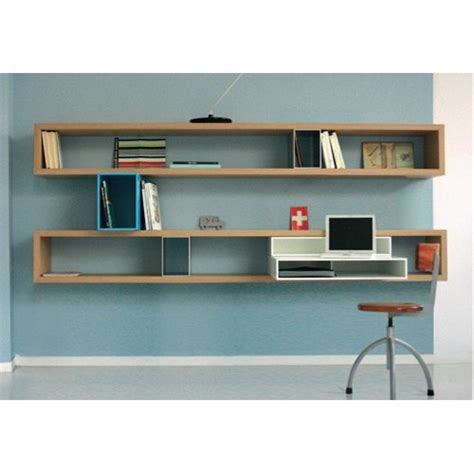 meuble bibliothèque bureau intégré longue bibliotheque targa italia chêne 160 cm