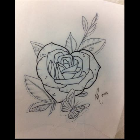 rose heart tattoo designs  tattoo designs