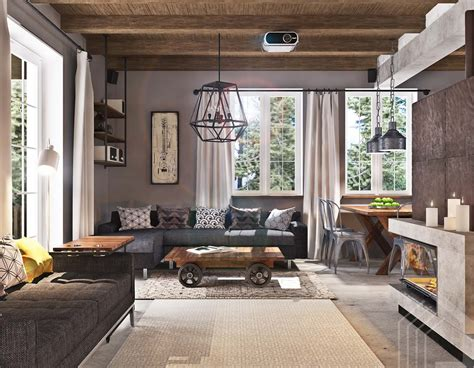 Industrial Home Style : Fabulous Modern Family Home In Ukraine With Industrial