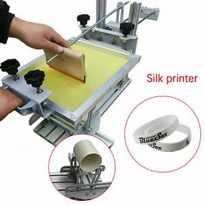 Manual Cylinder Screen Printer Double Guide Rail