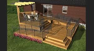 plan de terrasse en bois avec rampe dacces la terre de With plan terrasse en bois