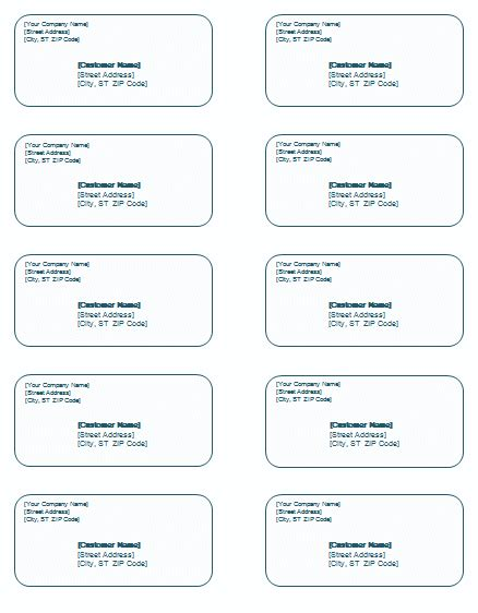 shipping label template templates for microsoft 174 word
