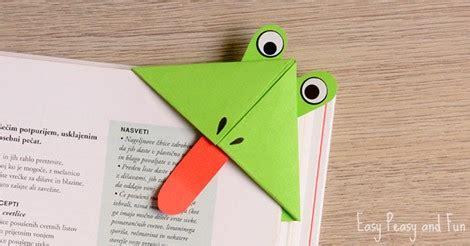 frog corner bookmarks easy peasy  fun