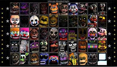 Every Character Single Ucn Fivenightsatfreddys Selectable Modded