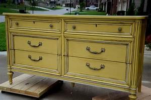 Yellow, Painted, Dresser
