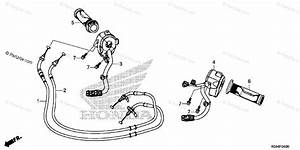 Honda Scooter 2014 Oem Parts Diagram For Switch    Cable