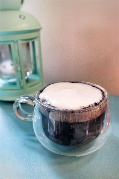 charcoal latte   mix  hot drink recipes  cut