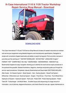 Ih Case International 7110 7120 Tractor Works By