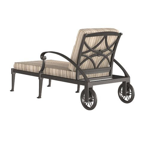wiltshire chaise lounge with leg wheels from woodard