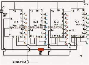 scrolling chasing rgb circuit With led counter circuit