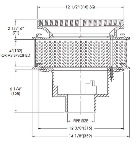 watts floor drains pdf watts rd 100 cp 85 irma promenade top roof drain