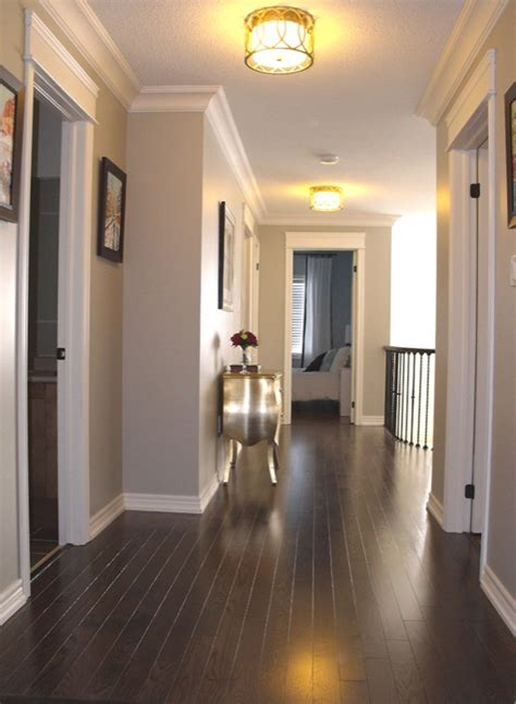 paint color with gray floor oak floor transitional entrance foyer benjamin revere pewter am dolce vita