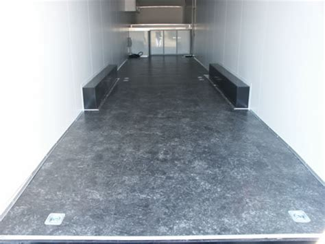 checkered vinyl flooring for trailers hercules enclosed cargo trailers by homesteader trailer inc