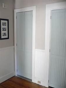 remodelaholic 40 ways to update flat doors and bifold doors With beadboard closet doors