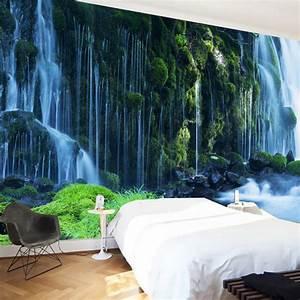 Custom 3D Wallpaper Classic Waterfall Nature Landscape ...