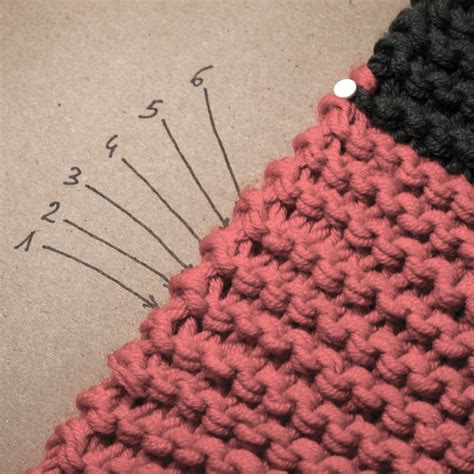 compter rang point mousse compter les rangs au point mousse peace and wool le