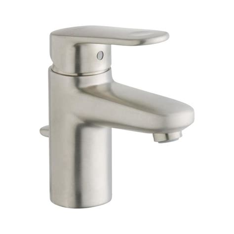 grohe europlus kitchen faucet shop grohe europlus brushed nickel 1 handle single hole watersense bathroom faucet drain