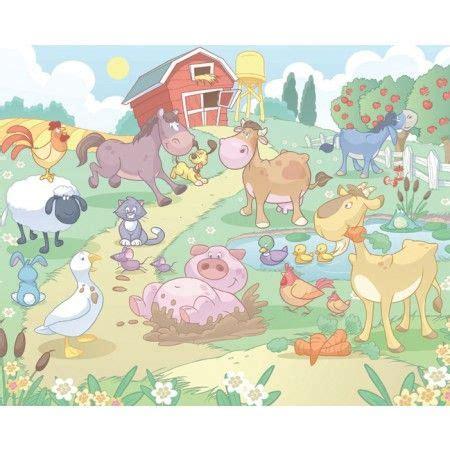 boerderij behang babykamer babykamer pinterest