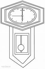 Clock Coloring Grandfather Printable Cool2bkids Adults sketch template