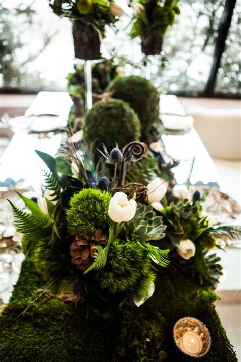 Forest Themed Wedding Tablescape Wedding Table Flowers
