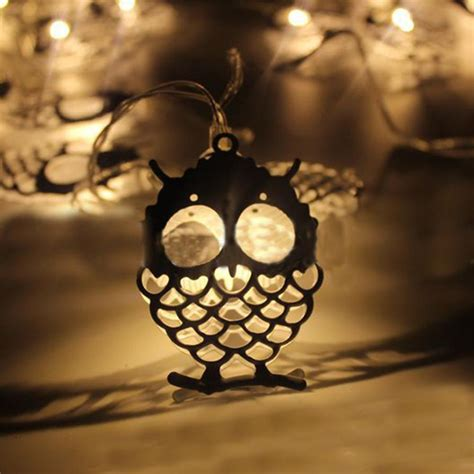 owl string lights battery powered 1 2m 10leds owl shaped indoor string