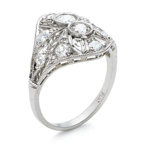 estate art deco diamond engagement ring 100903 seattle