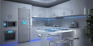 eclairage plan de travail cuisine led cuisine idees de With eclairage plan de travail cuisine