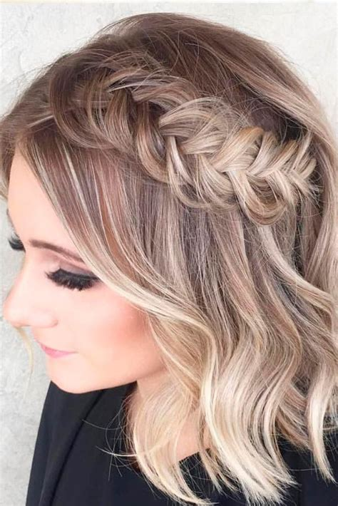 amazing prom hairstyles  short hair  braids