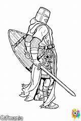 Templar Knight Dibujo Colorear Caballero Templario Caballeros Templier Coloring Templarios Knights Dibujos Kreuzritter Dessin Malvorlagen Colorare Rycerz Templariuszy Templare Cavaliere sketch template