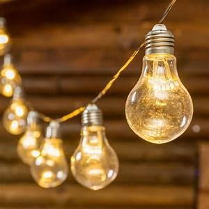 Guirlande Lumineuse Ampoule : guirlande party 5 m 10 ampoules miniled blanc chaud c ble vert achat vente guirlande party ~ Teatrodelosmanantiales.com Idées de Décoration