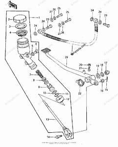 Kawasaki Motorcycle 1978 Oem Parts Diagram For Rear Master