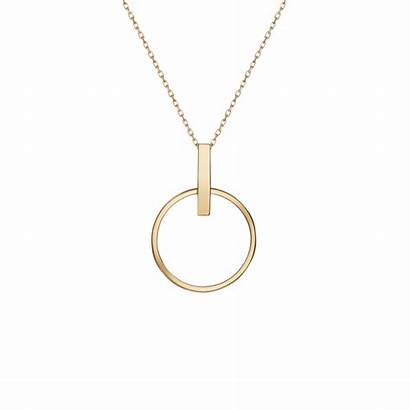 Circle Necklace Necklaces Gold Rose Yellow Aurate