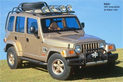 jeep wrangler icon jeep dakar and jeep icon concept cars 1997