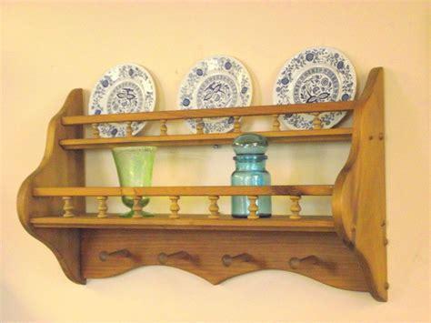 wood coat rack plate display shelf tea cup saucer