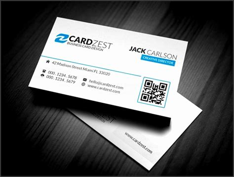 clean business card template free 6 modern business card templates free sletemplatess
