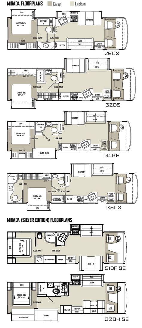 Coachmen Class C Motorhome Floor Plans Coachmen Mirada Class A Motorhome Floorplans 2011